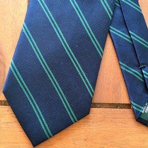 J. Crew Mens Slim Tie 100% Silk Preppy Navy NWT